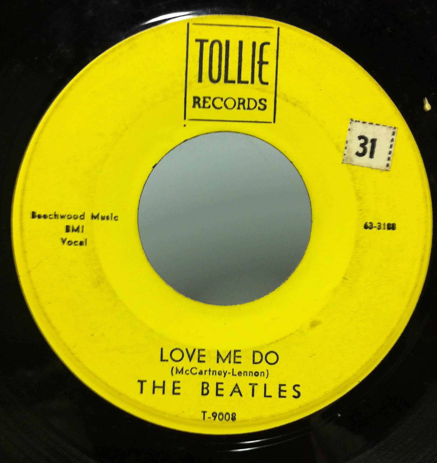 "BEATLES - The Beatles Love Me Do / P.s. I Love You 7"" Vg+ T-9008 Tollie 1964 Record (love Me Do / P.s. I"