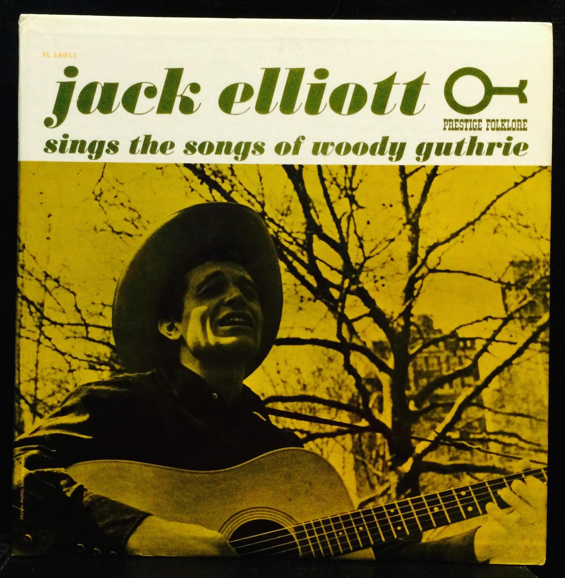 JACK ELLIOTT sings songs of woody guthrie LP Mint- 14011