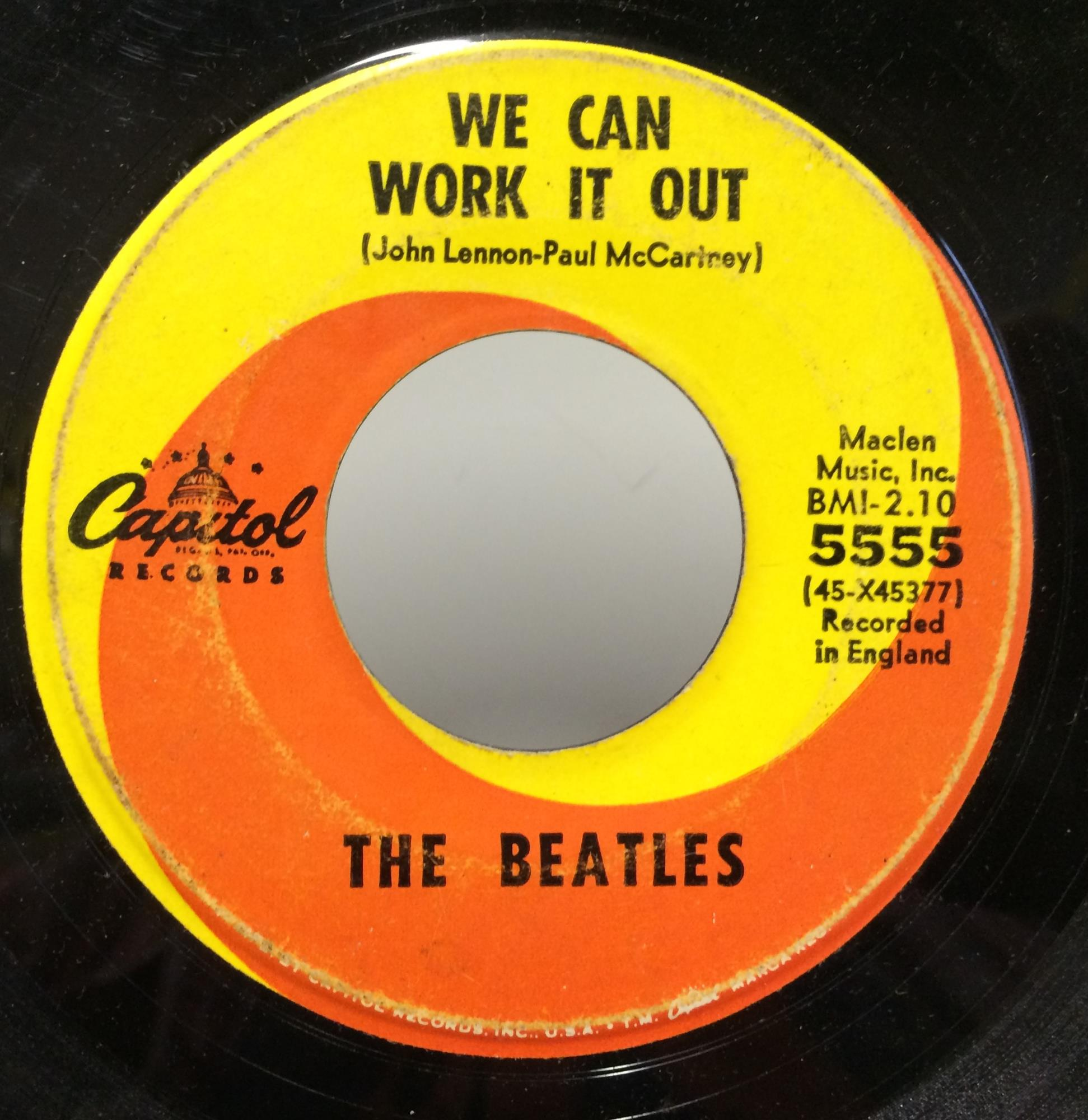 "Beatles - The Beatles We Can Work It Out / Day Tripper 7"" Vg 5555 Capitol 1965 Usa 45 (we Can Work It Out"