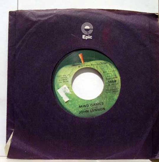 """John Lennon - John Lennon Mind Games / Meat City 7"""" Vg Apple 1868 Vinyl 1973 Beatles Usa 45 (mind Games / Mea"""