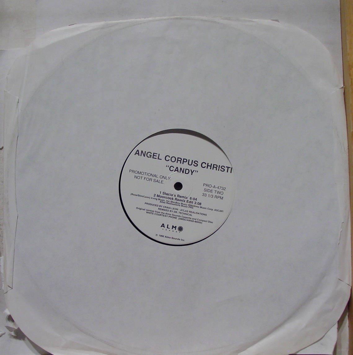 "ANGEL CORPUS CHRISTI - Angel Corpus Christi Candy 12"" Wlp Pro A 4732 Vg+ 1995 Vinyl Record (candy)"