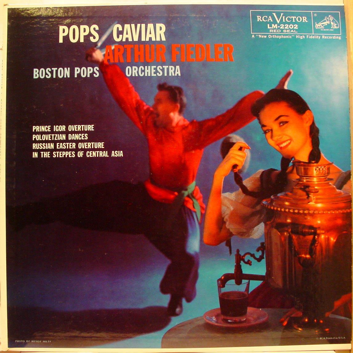 Arthur Fiedler - Fiedler Pops Caviar Lp Vg+ Lm-2202 Mono Usa Rca Plum Sd 1958 Borodin 2nd Cover (pops Caviar)