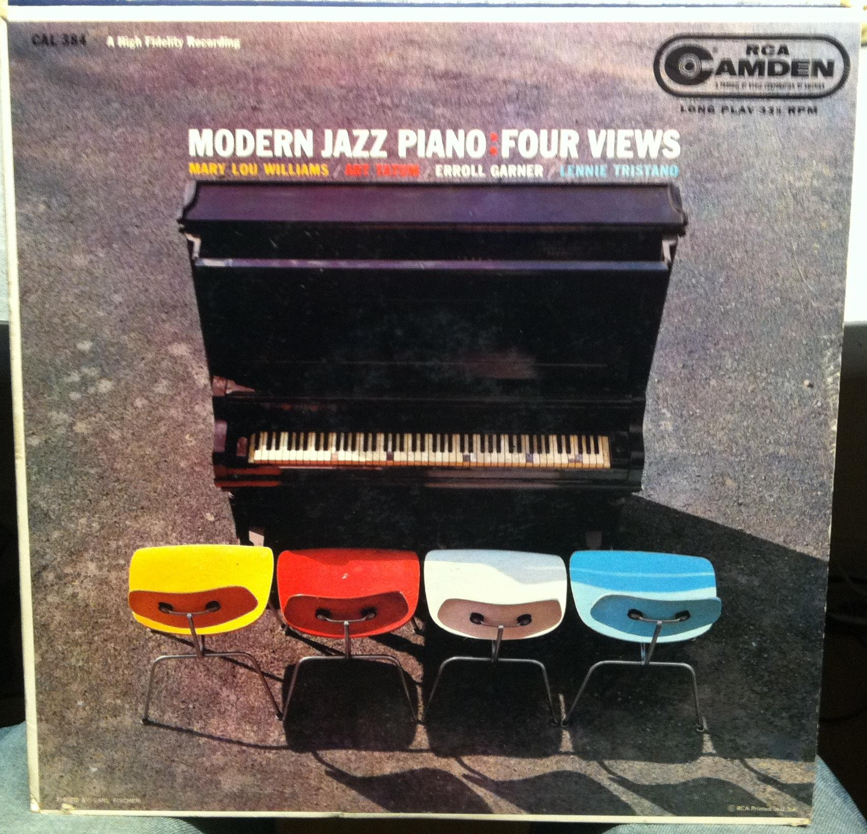 Various Jazz Modern Jazz Piano Four Views Lp Vg Cal 384