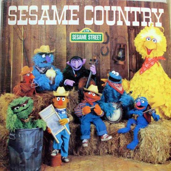 SESAME STREET - Sesame Street Country Lp Mint- Ctw 89003 Vinyl 1981 Record (country)