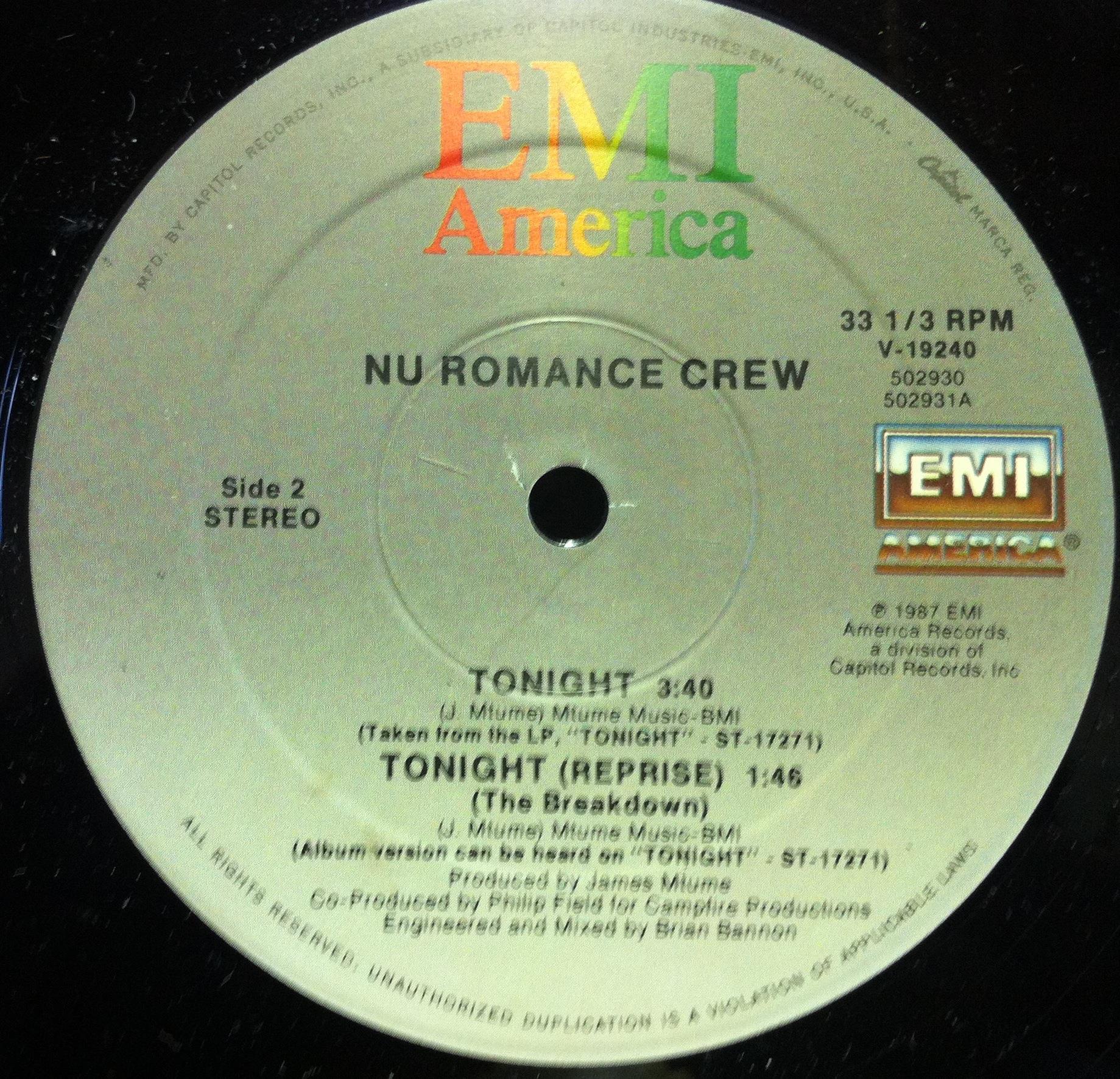 Nu Romance Crew - Tonight Single
