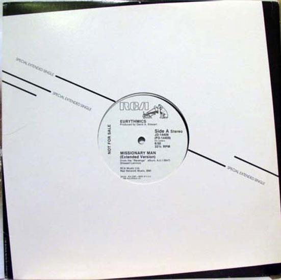 "EURYTHMICS - Eurythmics Missionary Man 12"" Mint- Jd 14409 Vinyl 1986 Record (missionary Man)"