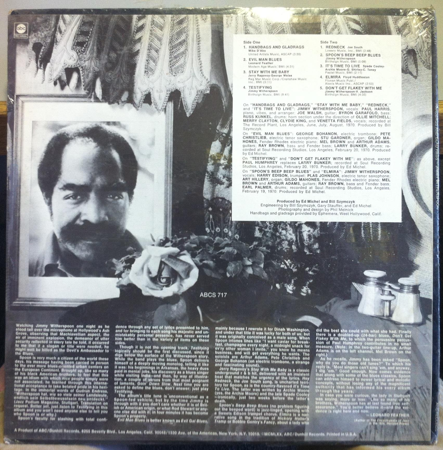 Jimmy Witherspoon Handbags And Gladrags
