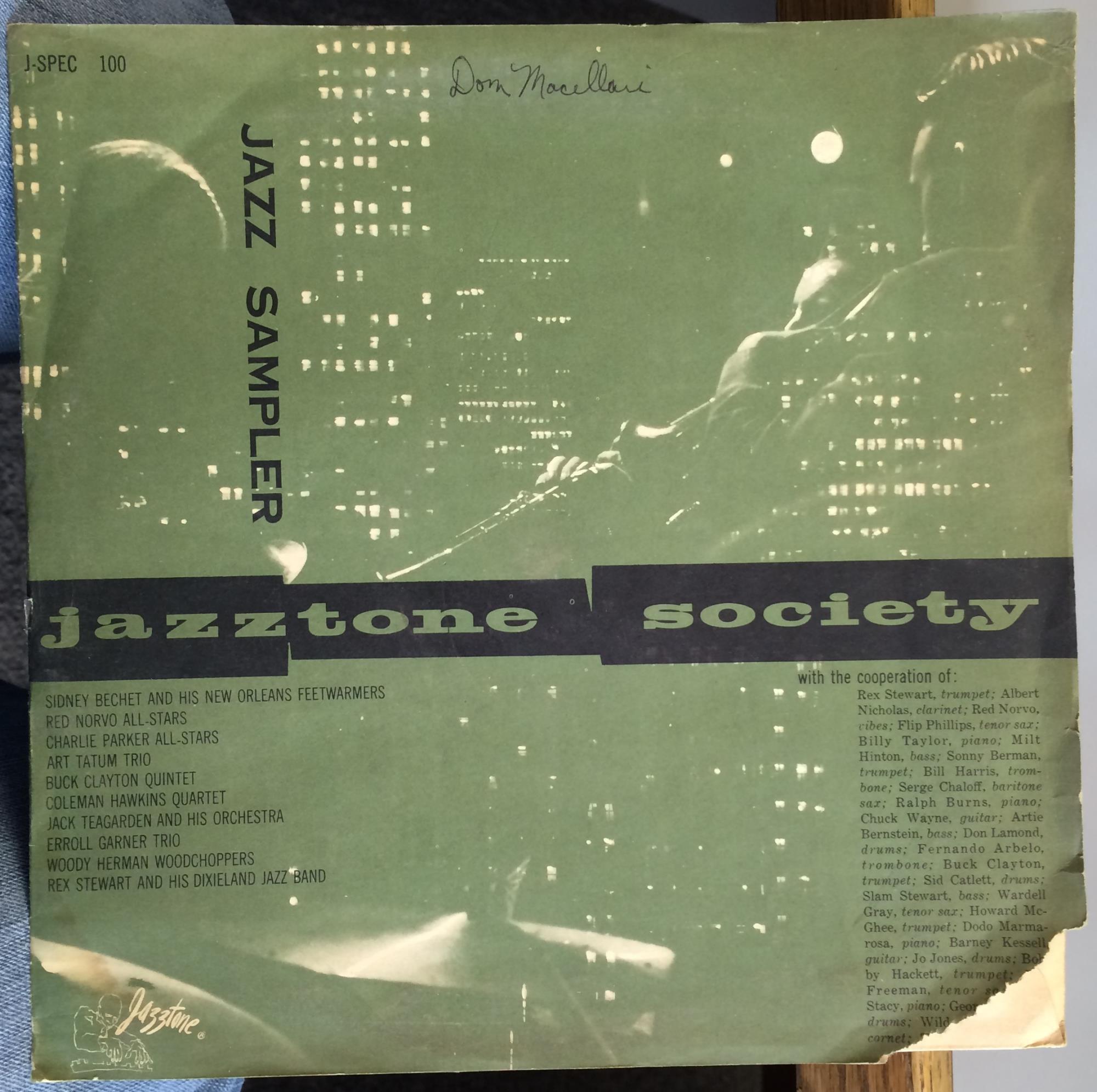 CHARLIE PARKER / COLEMAN HAWKINS - Jazztone Jazz Sampler - LP + 10inch