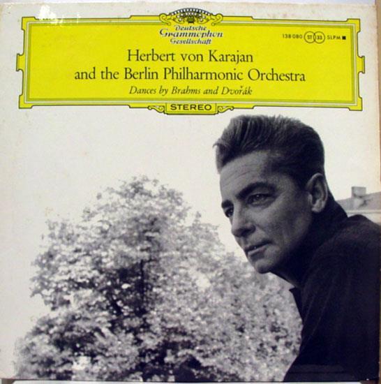 Herbert Von Karajan - Karajan Dances By Brahms & Dvorak Lp Vg+ Slpm 138 080 Stereo 1959 Usa Tulip (dances By Brahms &a