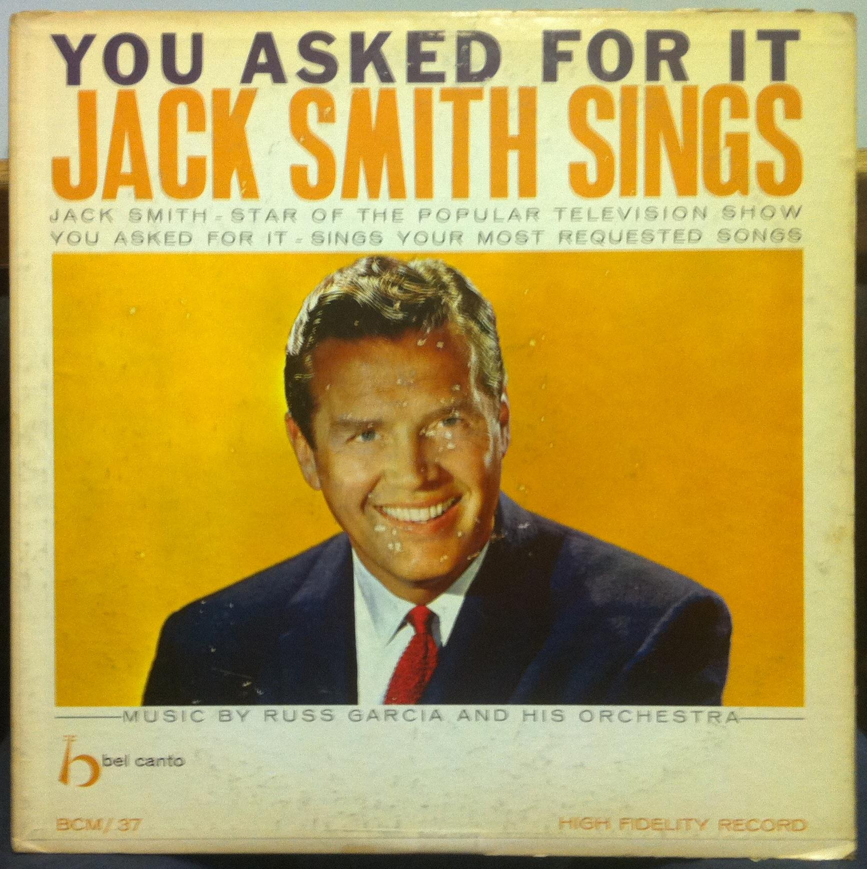 JACK SMITH - Sings You Asked For It