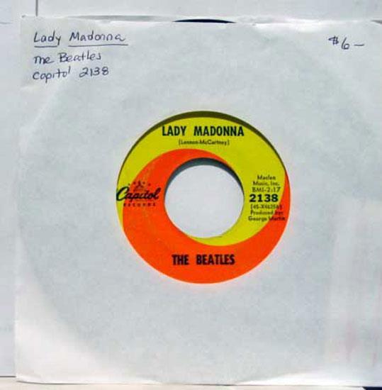 "BEATLES - The Beatles The Inner Light / Lady Madonna 7"" Vg Capitol 2138 Vinyl Record (the Inner Light / L"