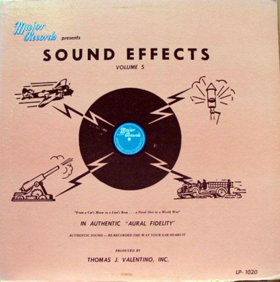 Major Records Sound Effects Volume 5 Lp Vg Major 1020