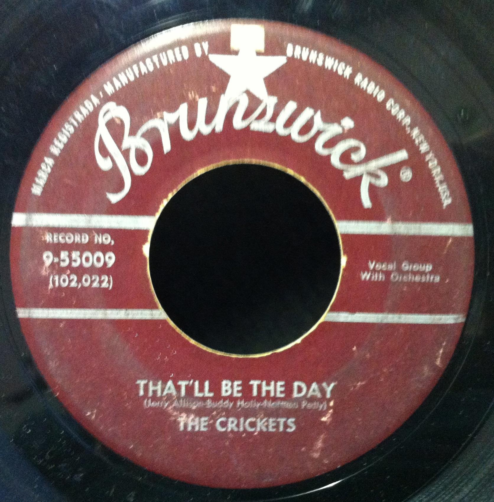 "BUDDY HOLLY & THE CRICKETS - Buddy Holly & Crickets I'm Lookin For Someone To Love / That'll Be The Day 7"" Vg (i'm Looki"
