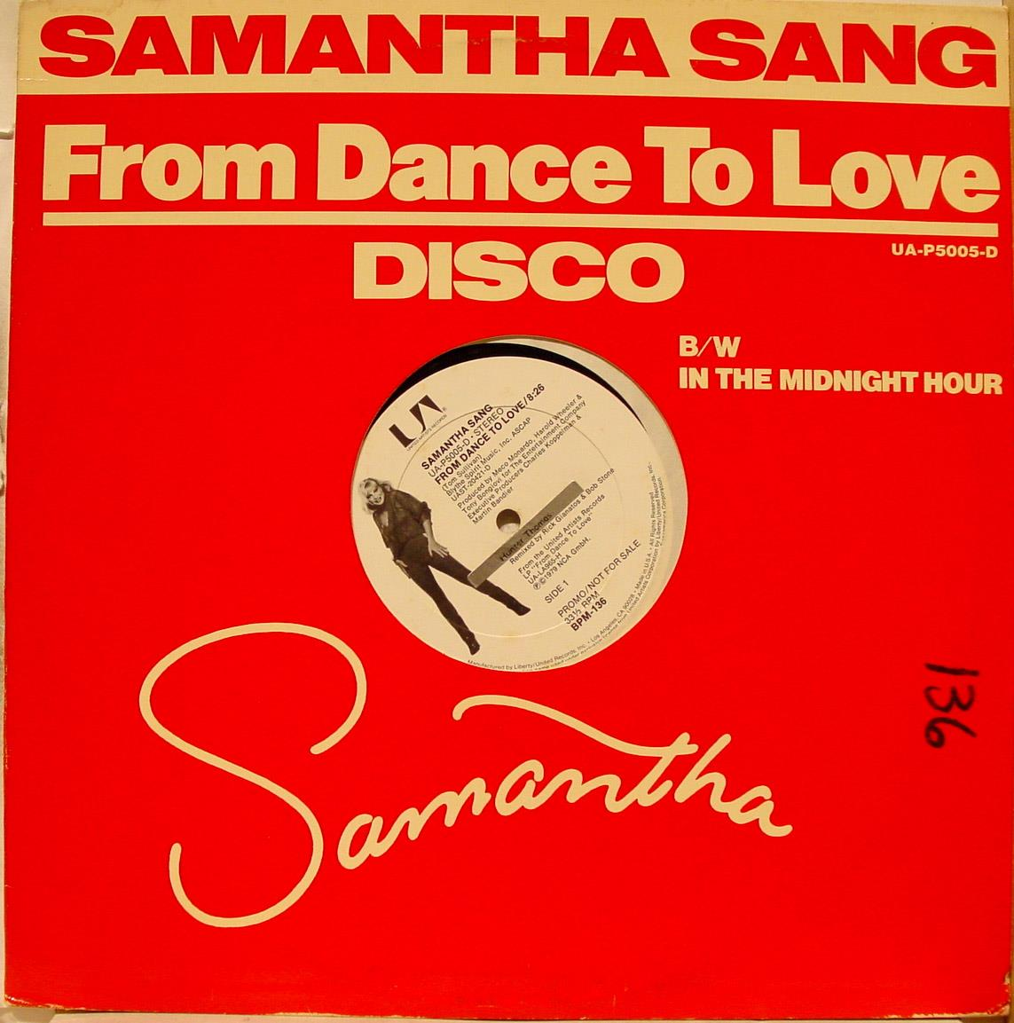 Samantha Sang And Rocked The World Test Pressing