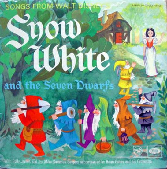 WALT DISNEY - Walt Disney Snow White & The Seven Dwarfs Lp Vg+ Mfp 1110 Vinyl 1966 Record (snow White & Th
