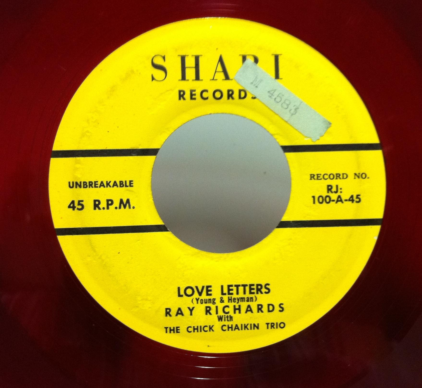 RAY RICHARDS Love Letters That Old Feeling 7 VG RJ 100