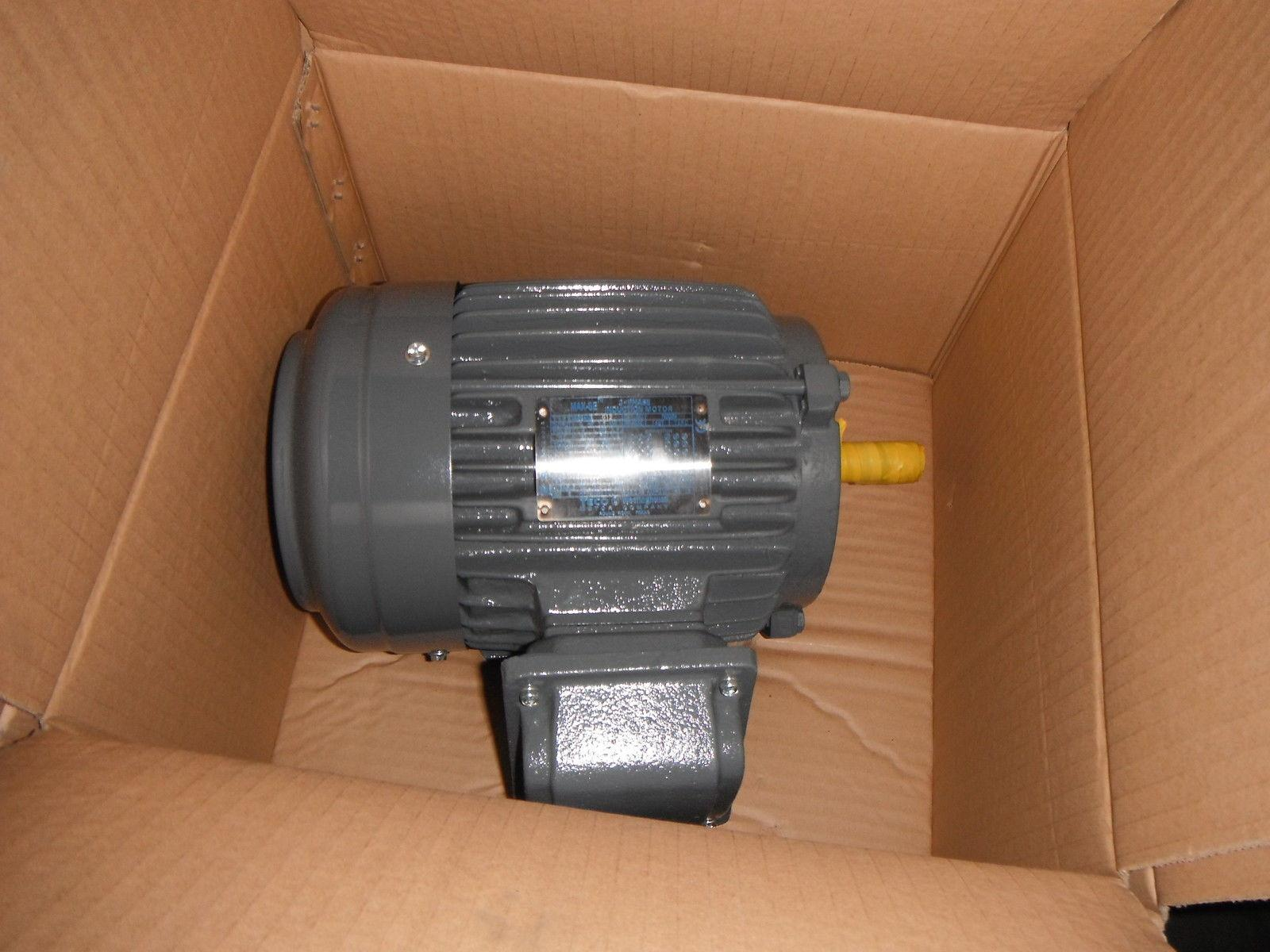 Teco n0024 2 hp 3 phase induction electric motor 247 ebay for 2 hp 3 phase motor
