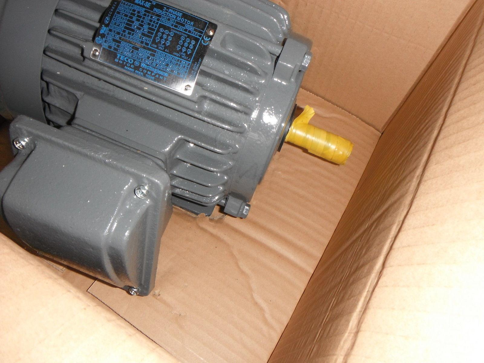 Teco n0024 2 hp 3 phase induction electric motor 247 ebay for 1 2 hp induction motor
