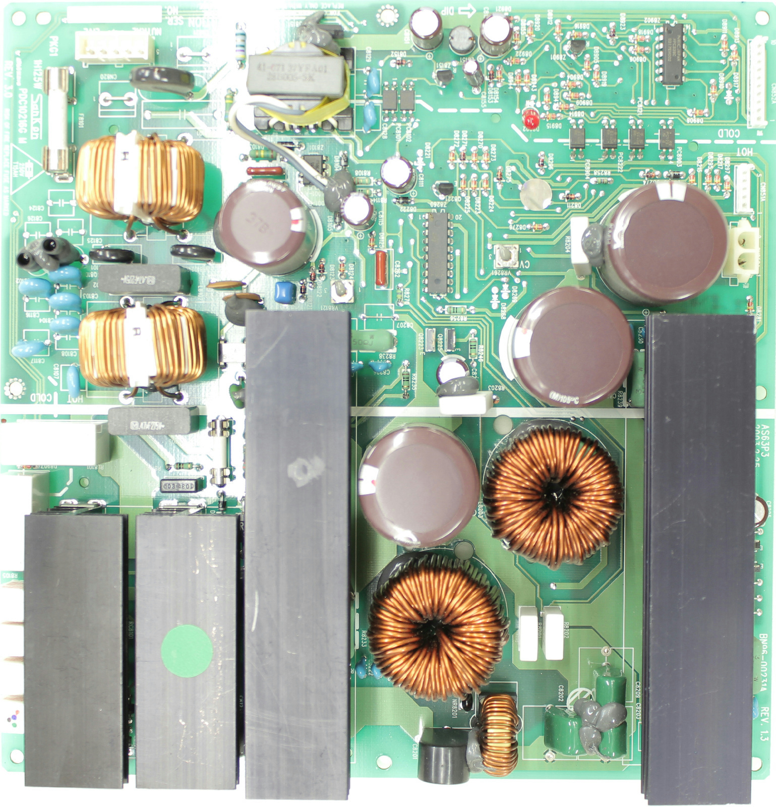 Samsung Ppm63h3x Xaa Power Supply Bn96 00231a Tvparts At Circuit Board With Electronic Components Inside A Computer Stock Photo