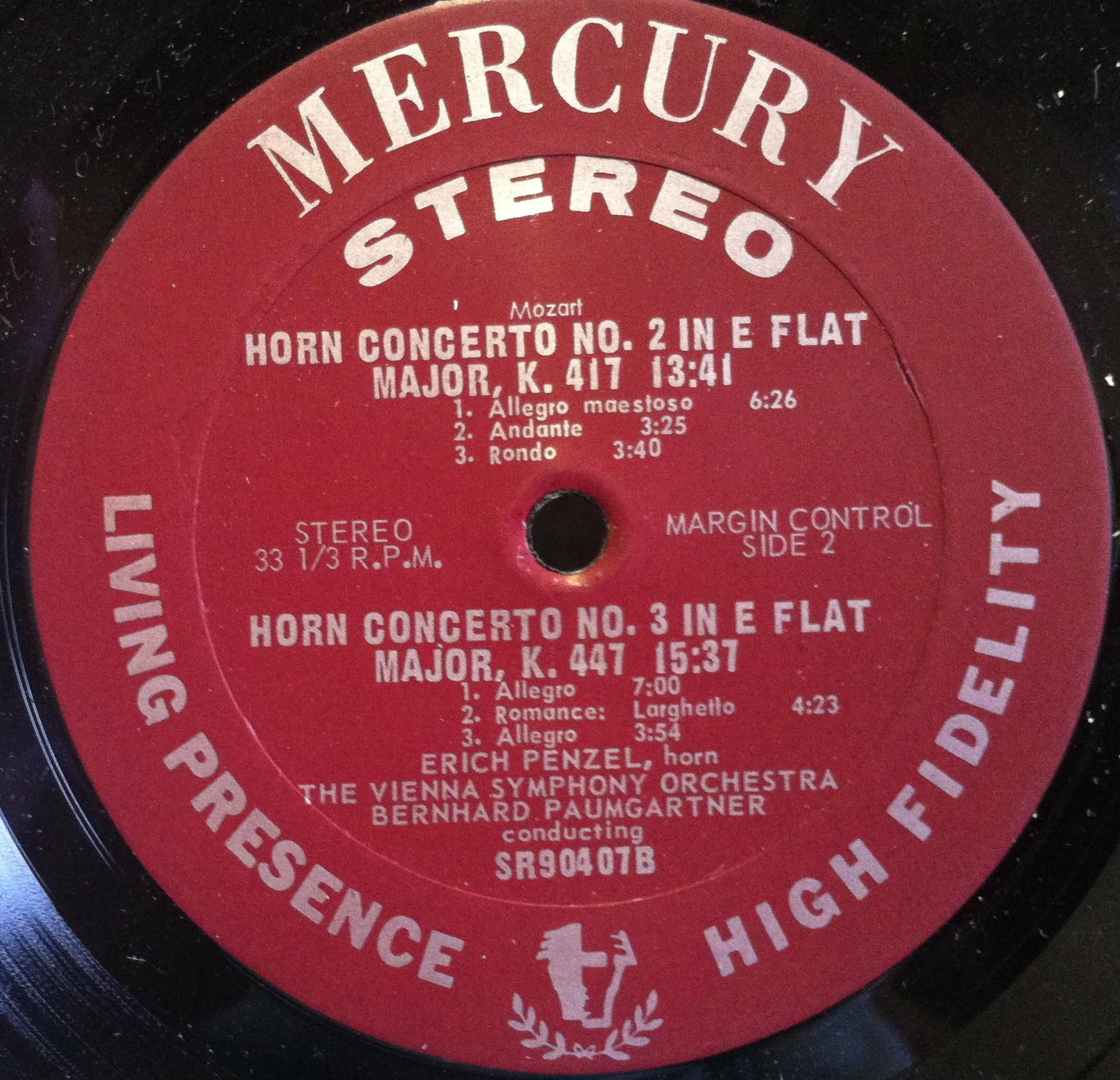 Mozart Erich Penzel The Four Horn Concertos