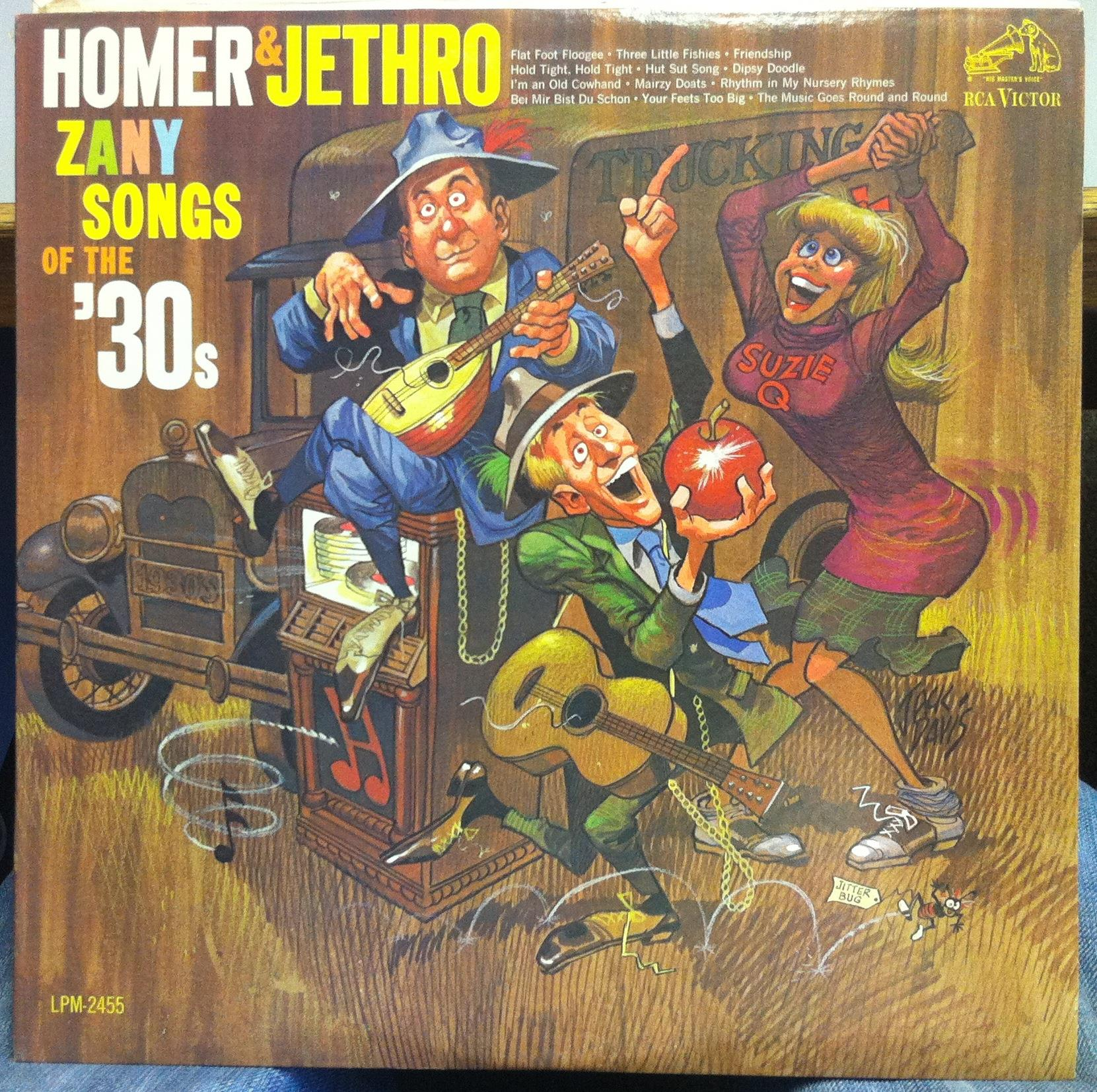 HOMER & JETHRO - Homer & Jethro Zany Songs Of The '30's Lp Vg+ Lpm-2455 Rca 1s/1s 1963 Record (zany Songs Of The