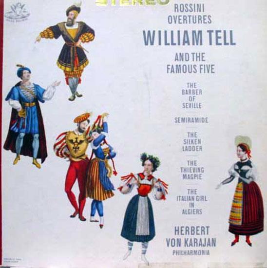 Herbert Von Karajan - Karajan Rossini Overtures Lp Vg+ S 35890 Angel 1960 Stereo Usa Ed1 Original (rossini Overtures)