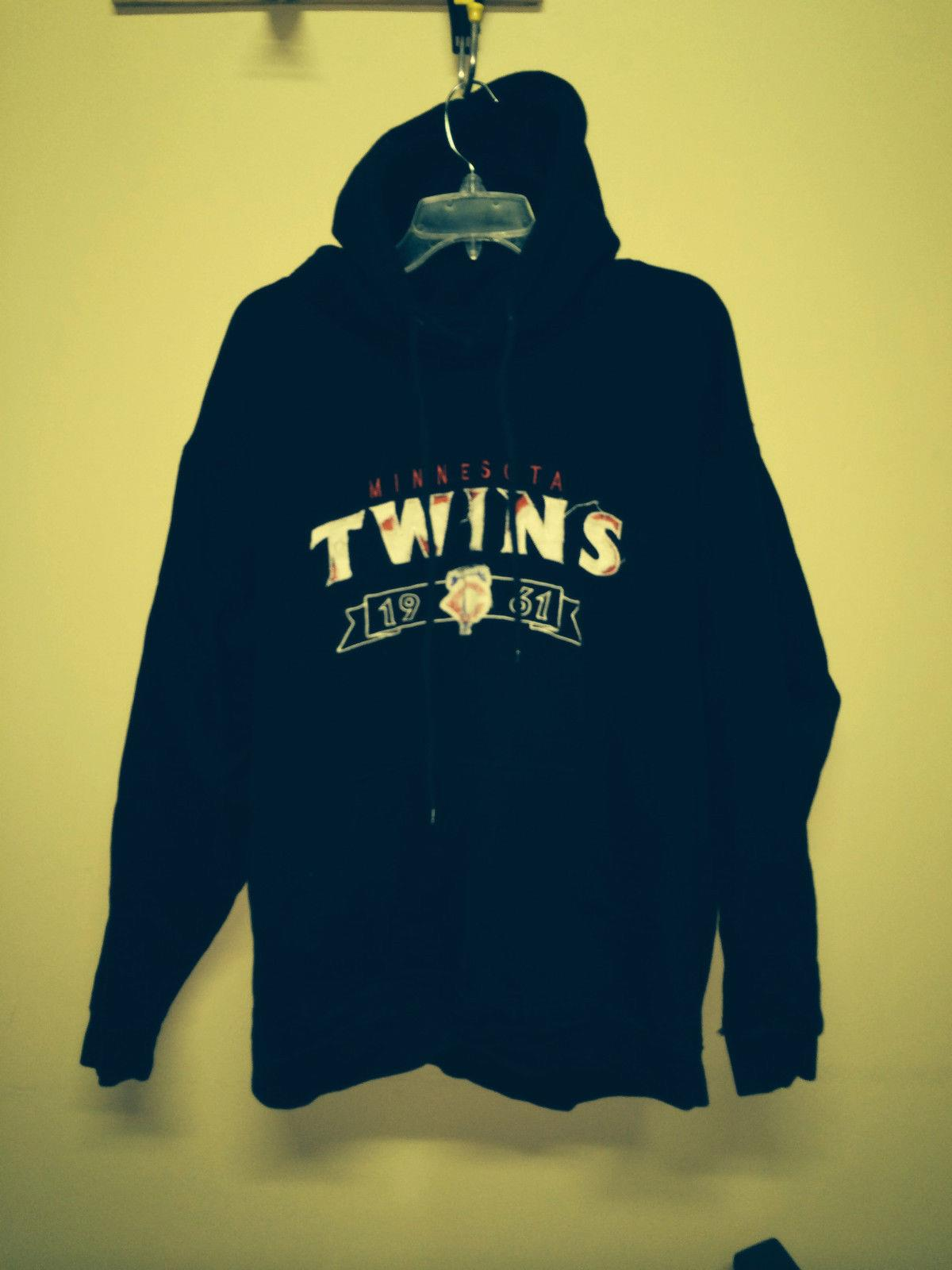 promo code 7363d 4e68a Details about Wright & Ditson Makers Minnesota MN TWINS Mens Men's XL  Pullover Hoodie Blue