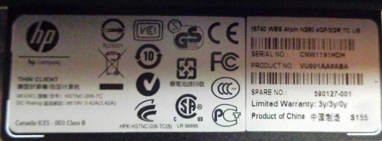 hp hstnc 006 tc manual