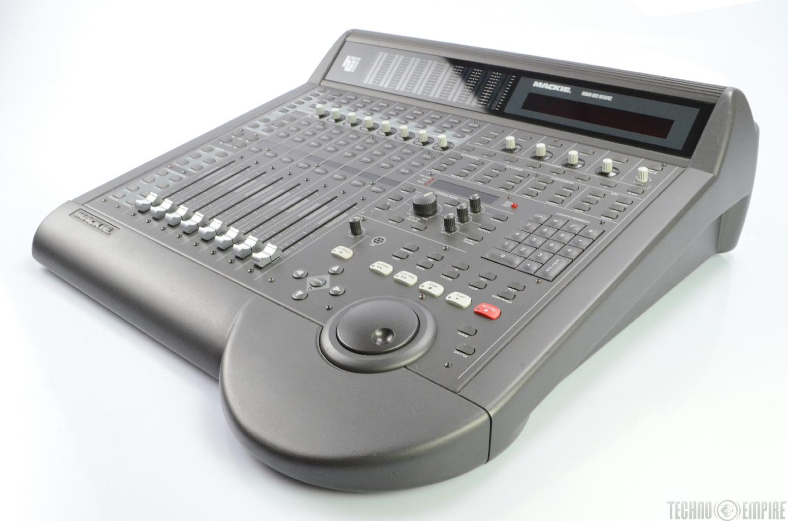 mackie hui human user interface mixing console studio controller for daw 19836 ebay. Black Bedroom Furniture Sets. Home Design Ideas