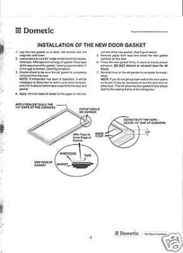 Dometic Rv Refrigerator Door Gasket Set 3108704390