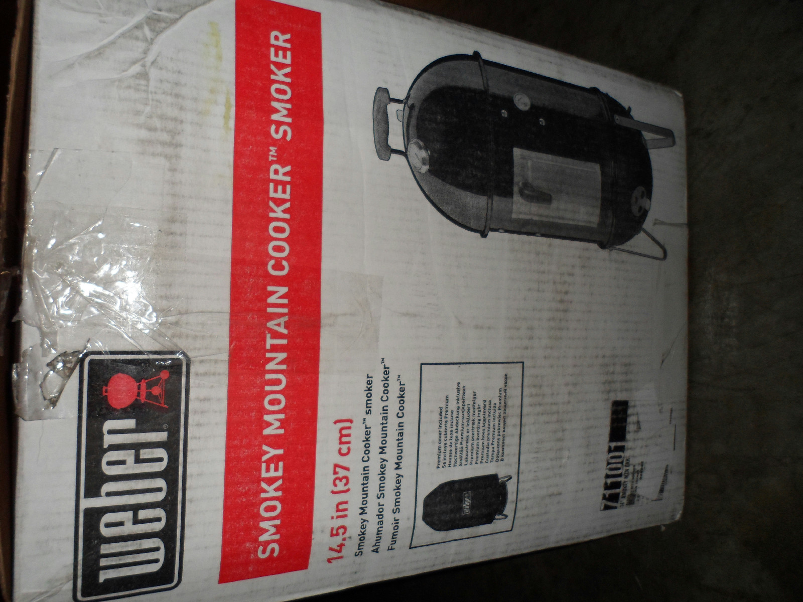 Details about Weber 711001 Smokey Mountain Cooker Smoker 14.5 Inch #AB2025