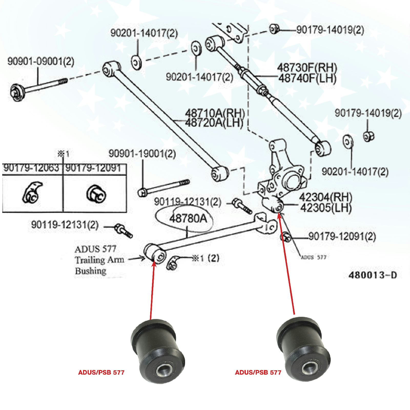 Lexus Es300 Diagram Starting Know About Wiring Starter For 1997 2x Toyota Camry 91 06 01 Rear Axle Trailing Arm Parts Belt