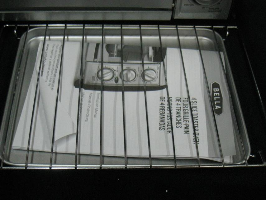 Bella 14326 3 Dial Toaster Oven 4 Slice Excellent Ebay