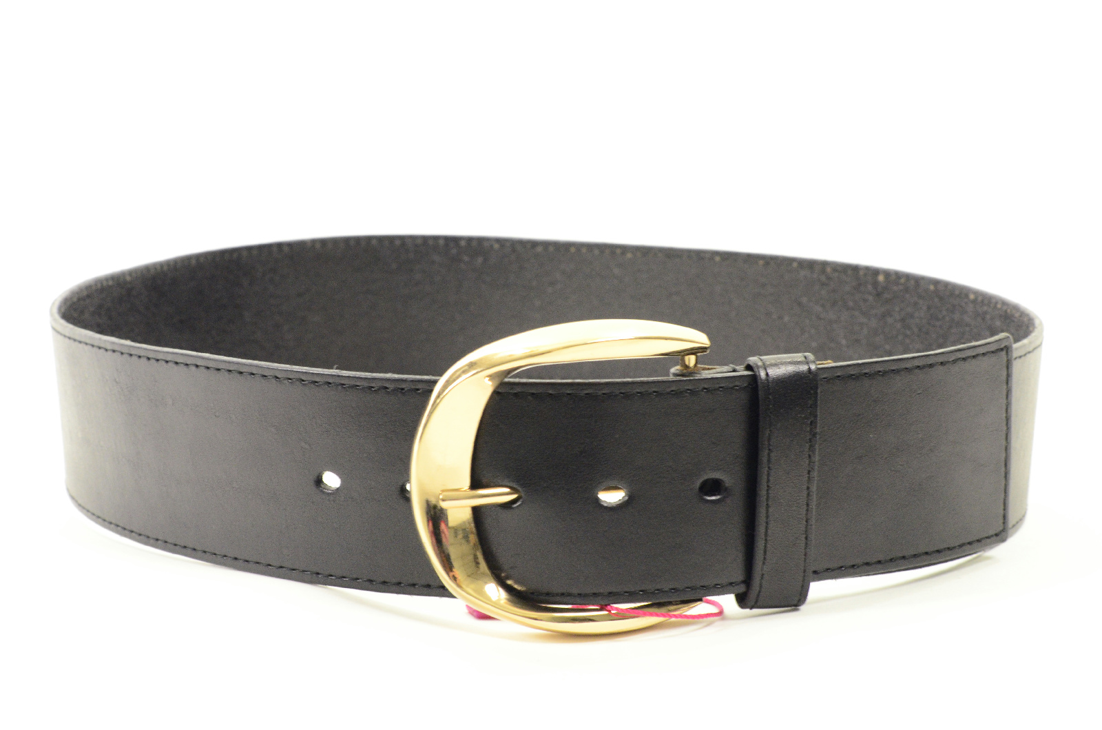 nwt elise m collection wide hip belt black leather