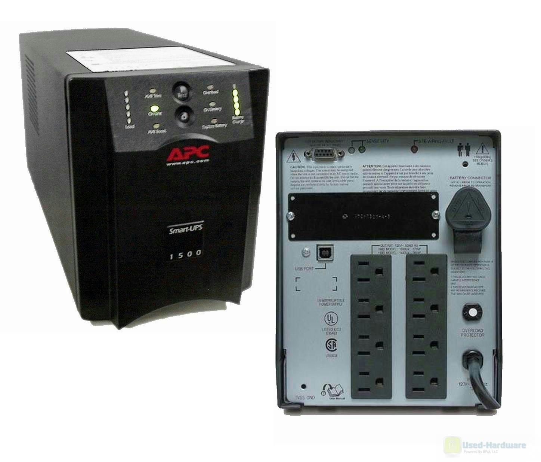 Details about APC SUA1500 1500VA 980W 120V Smart-UPS Power Backup Tower USB  New Batteries