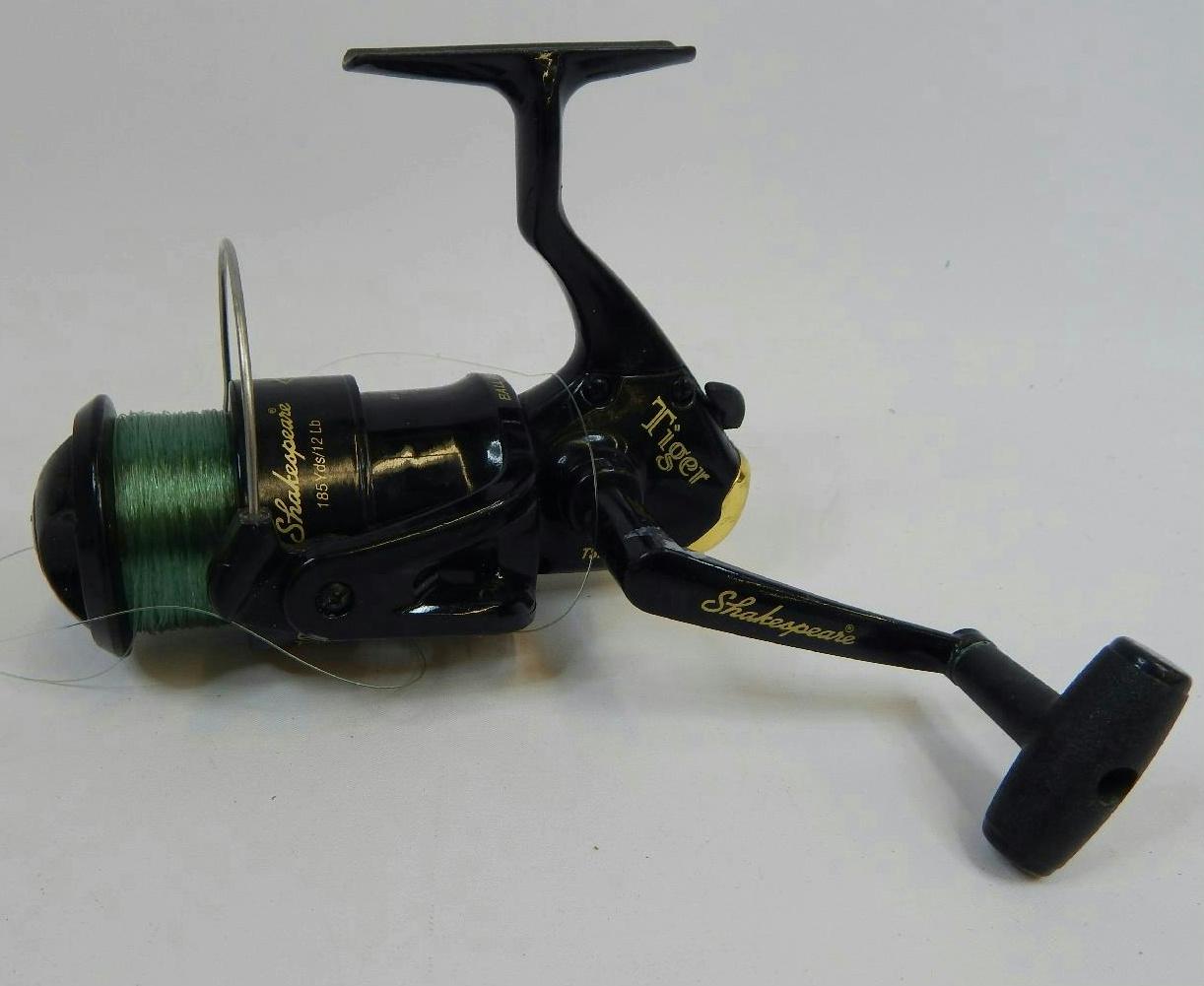 Tiger shakespeare ball bearing fishing reel 185yds 12lb ebay for Shakespeare tiger fishing reel