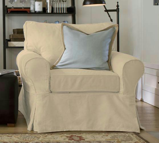 Pb Basic Sofa Slipcover Ebay: NEW Pottery Barn PB Basic Armchair Chair Slipcover Cover