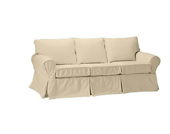 New Pottery Barn Pb Basic Sofa Couch Slipcover Cover