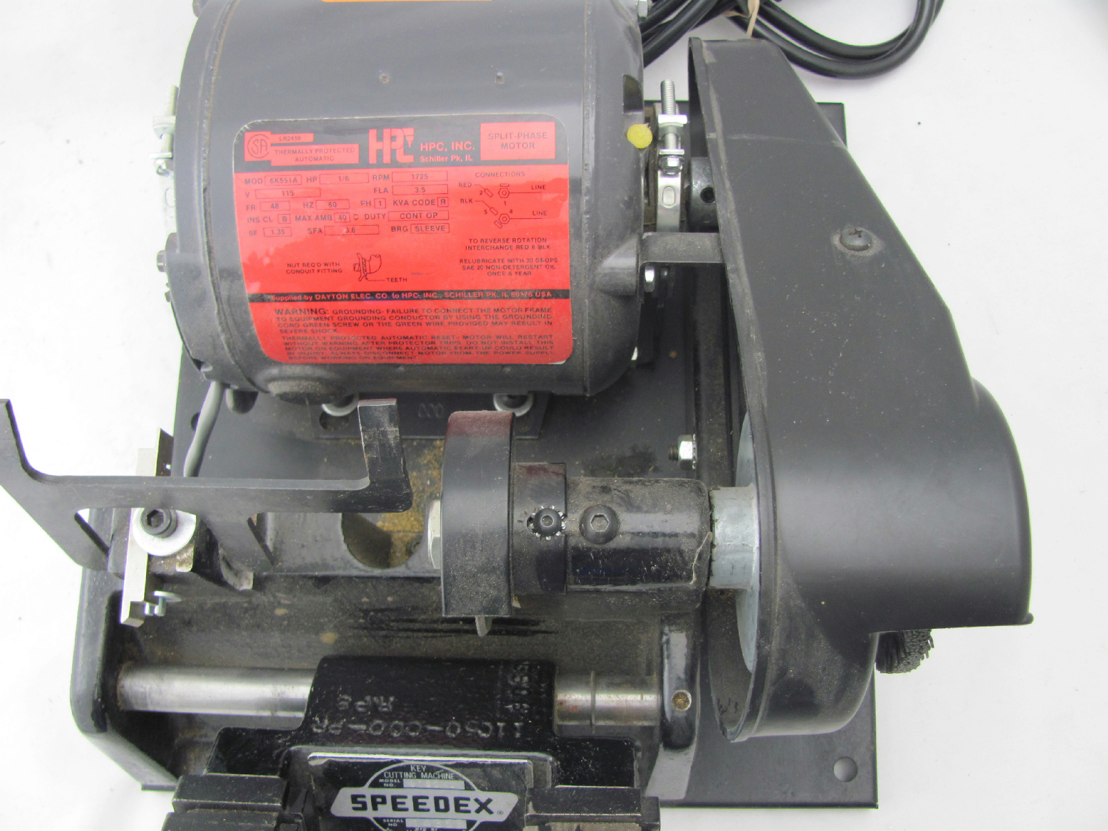 speedex key cutting machine parts