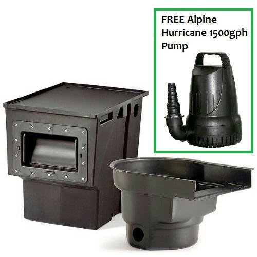 Atlantic combo kit skimmer ps4500 filterfalls bf1250 for Pond filter pump combo