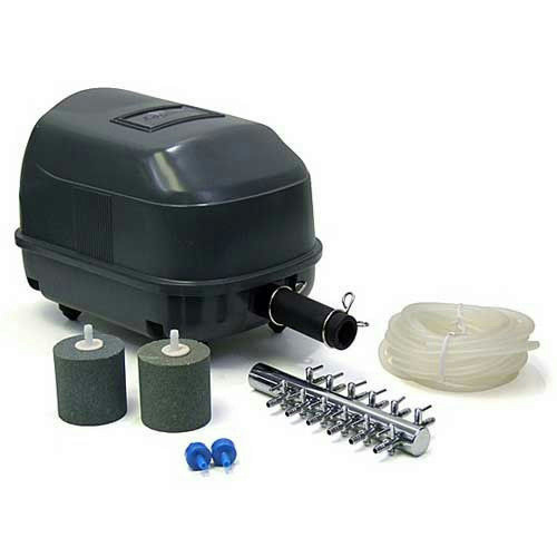 Laguna pond aeration 45 kit fish koi pond air pump pt 1620 for Fish pond aerator