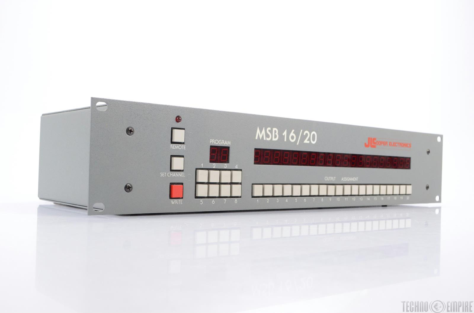 Jl Cooper Msb 16  20 Midi Patchbay Router  21130