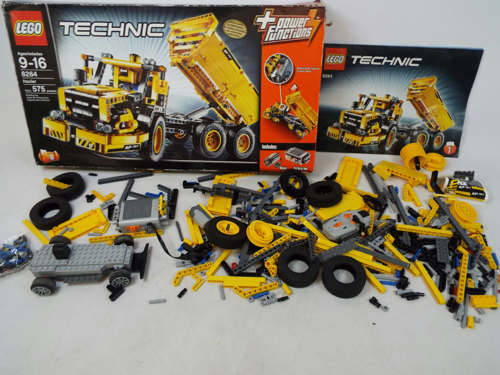 lego technic power functions lot 8264 hauler motor remote control car chassis. Black Bedroom Furniture Sets. Home Design Ideas