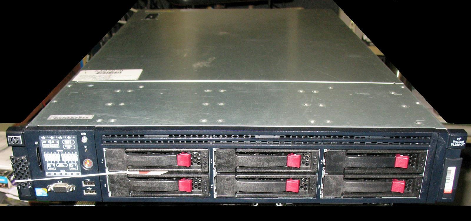 HP ProLiant DL380 G7 Server 2xSix-Core Xeon 2 93GHz + 96GB RAM + 6x2TB SAS  RAID