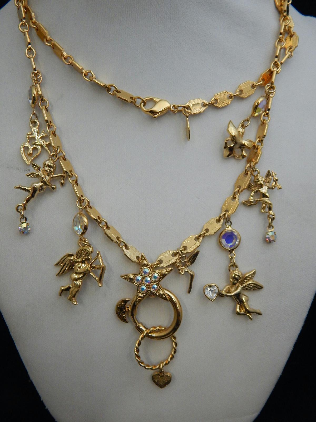vintage costume jewelry kirks folly cherub symphony