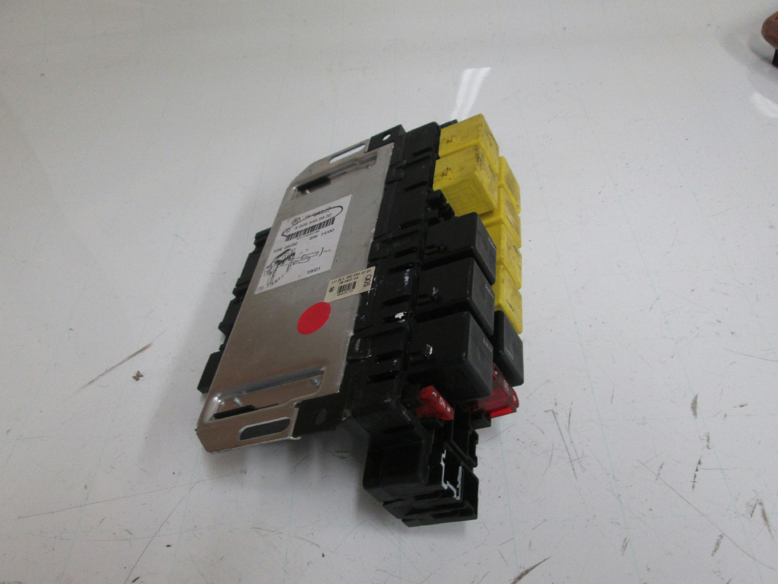 00 02 mercedes w220 s430 s500 sam fuse relay panel 0285459832 used allums import