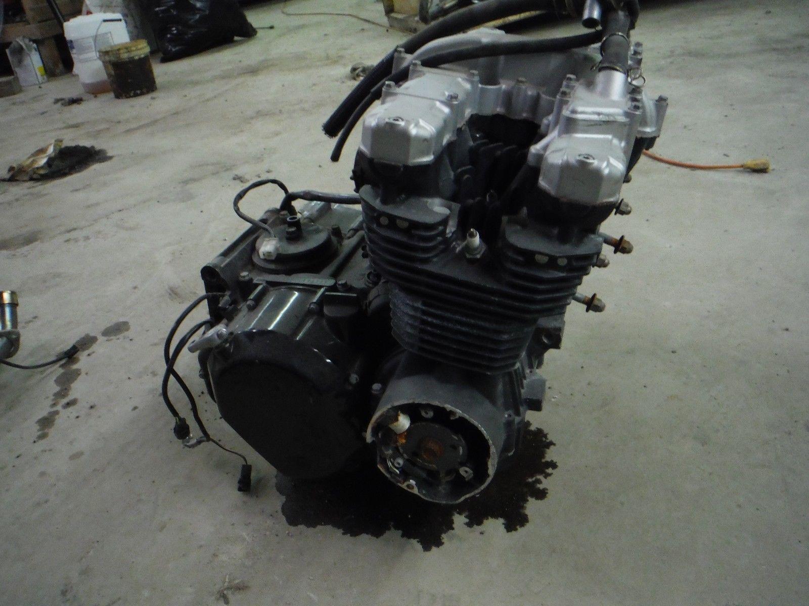 00 01 02 Kawasaki ZR7S ZR 7 S 750 Engine Motor *Timing cover damage ...