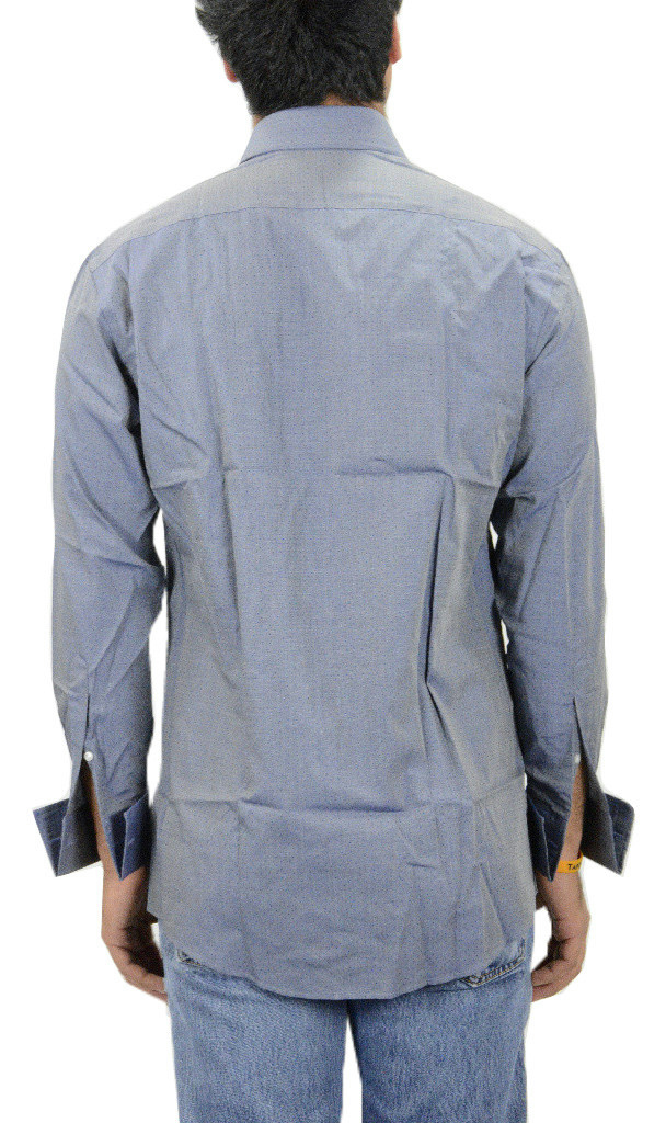 Nwt authentic joseph abboud profile mens navy blue dot for Joseph abboud dress shirt