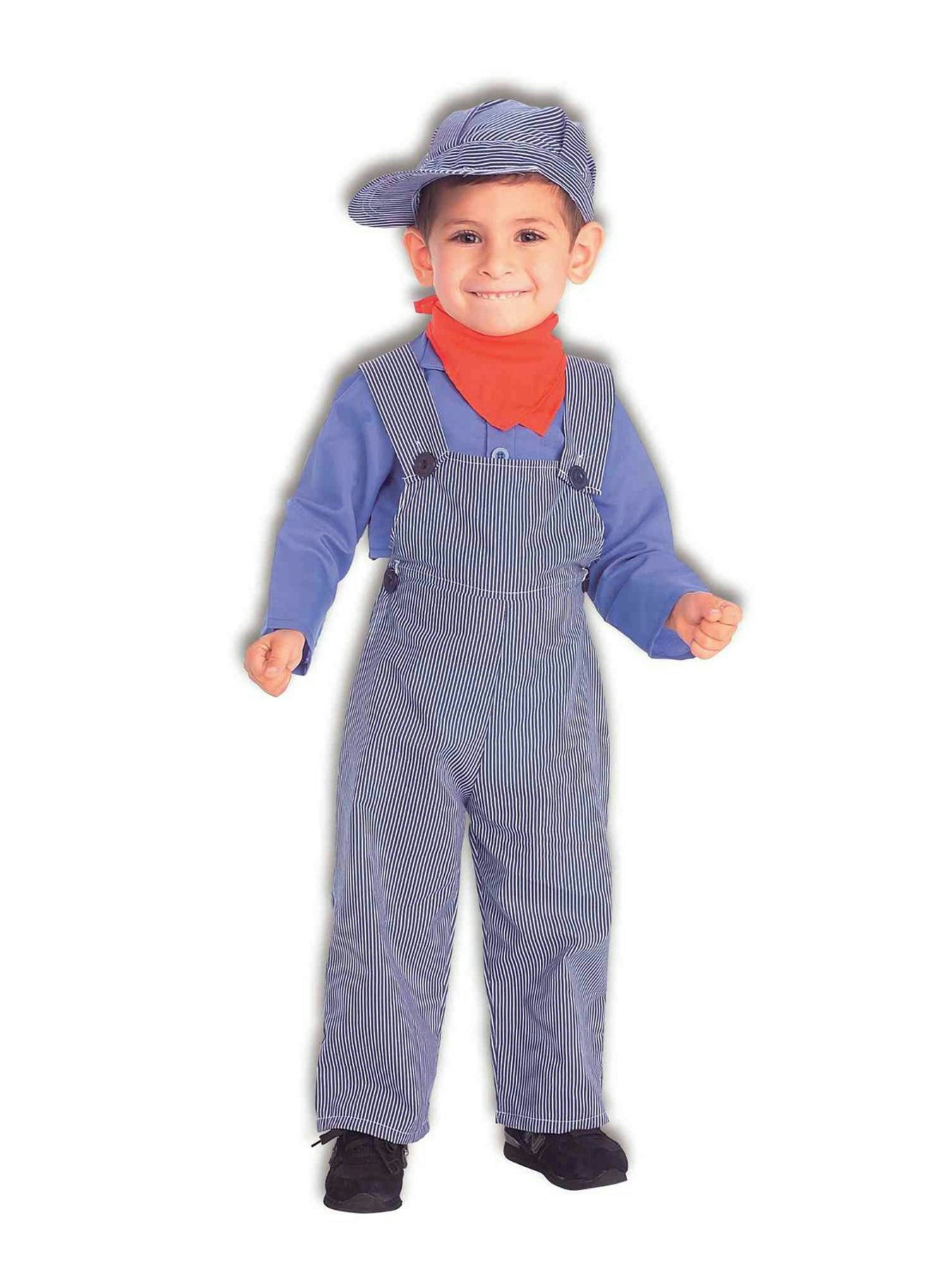 Lil Engineer Train Conductor Child Costume Toddler Size 2-4