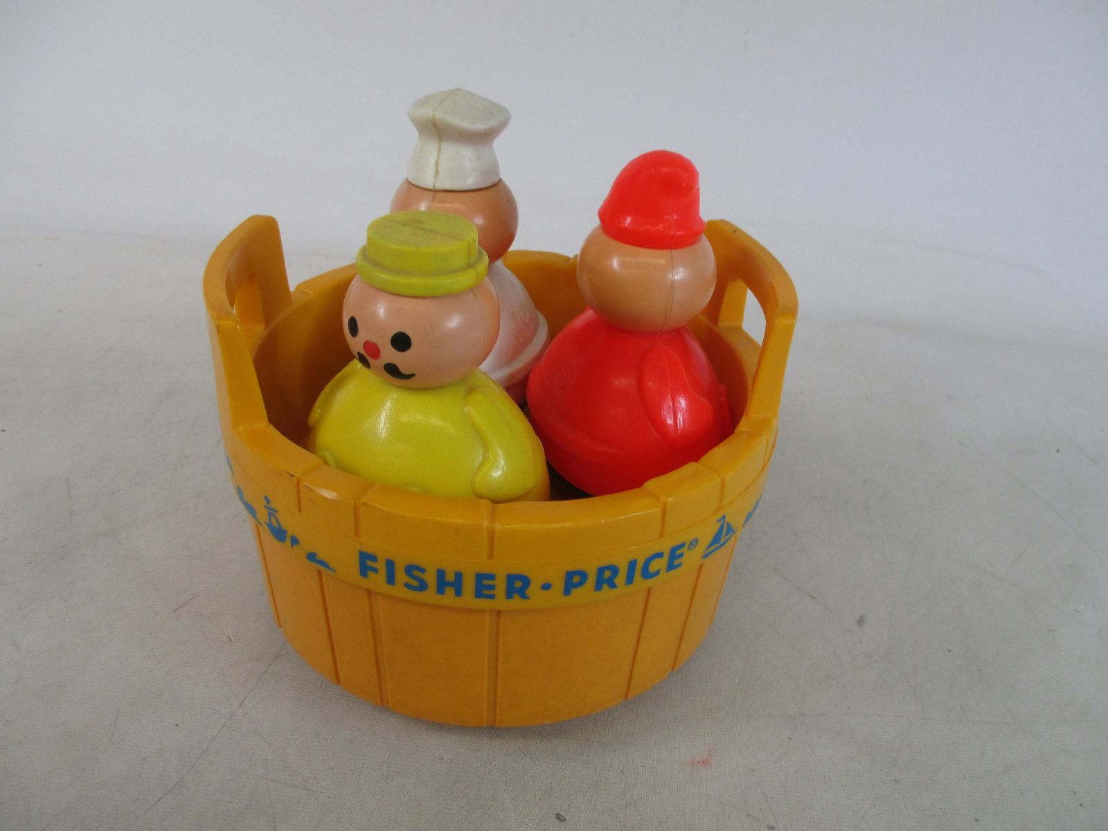 vintage fisher price 3 men in a tub childrens toy ebay. Black Bedroom Furniture Sets. Home Design Ideas